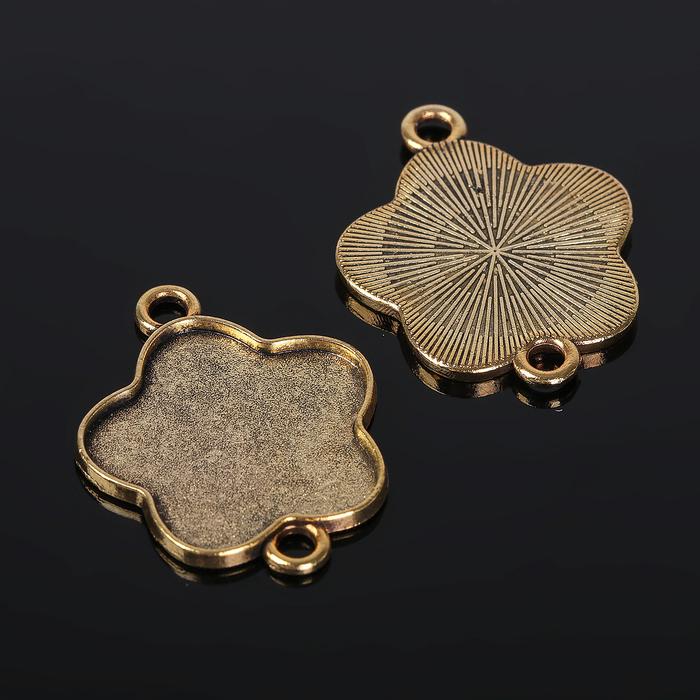 Коннектор (набор 4шт), площадка 25мм, Т134, цвет черненое золото