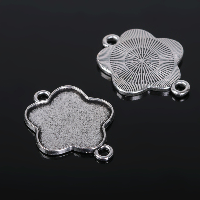 Коннектор (набор 4шт), площадка 25мм, Т134, цвет черненое серебро