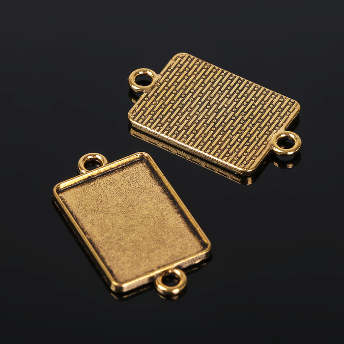 Коннектор (набор 4шт), площадка 18*25мм, Т146, цвет черненое золото