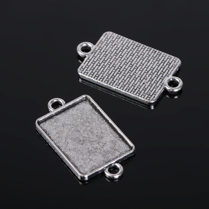 Коннектор (набор 4шт), площадка 18*25мм, Т146, цвет черненое серебро