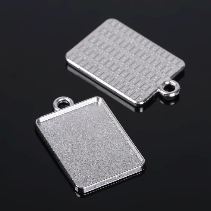 Рамка с сеттингом (набор 4шт), площадка 18*25мм, Т149, цвет серебро