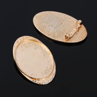 Основа для броши (набор 2шт), площадка 30*40мм, Х014, цвет золото