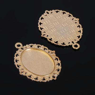 Рамка с сеттингом (набор 4шт), площадка 18*25мм, JC-624, цвет золото
