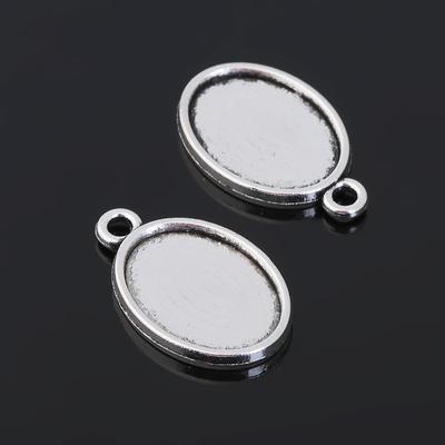 Рамка с сеттингом (набор 4шт) площадка 13*18мм, JC-655, цвет черненое серебро