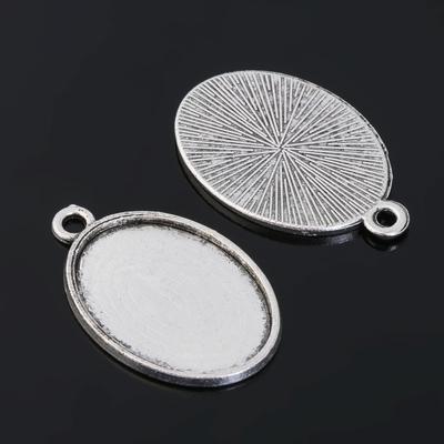 Рамка с сеттингом (набор 4шт) площадка 18*25мм, JC-657, цвет черненое серебро