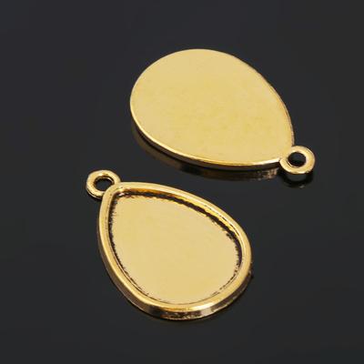 Рамка с сеттингом (набор 4шт) площадка 18*25мм, JC-658, цвет черненое золото