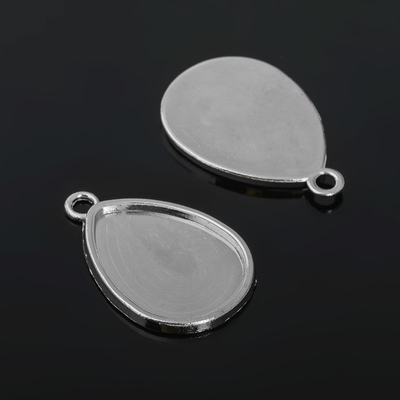 Рамка с сеттингом (набор 4шт) площадка 18*25мм, JC-658, цвет серебро
