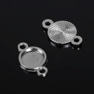 Коннектор (набор 4шт) площадка 8мм, JC-671, цвет серебро