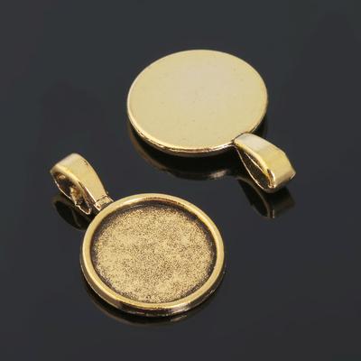 Рамка с сеттингом (набор 4шт) площадка 16мм, JC-695, цвет черненое золото
