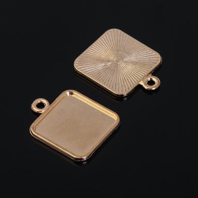 Рамка с сеттингом (набор 4шт) площадка 15*15мм, JC-700, цвет золото