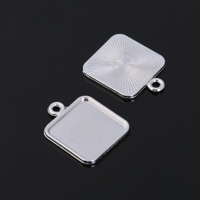 Рамка с сеттингом (набор 4шт) площадка 15*15мм, JC-700, цвет серебро