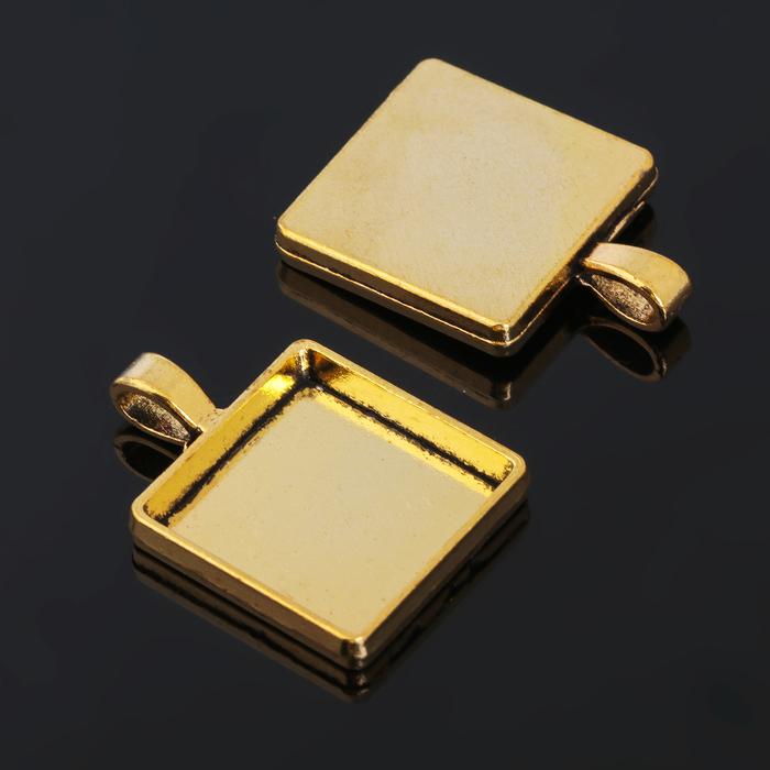 Рамка с сеттингом (набор 4шт) площадка 20*20мм, JC-702, цвет черненое золото