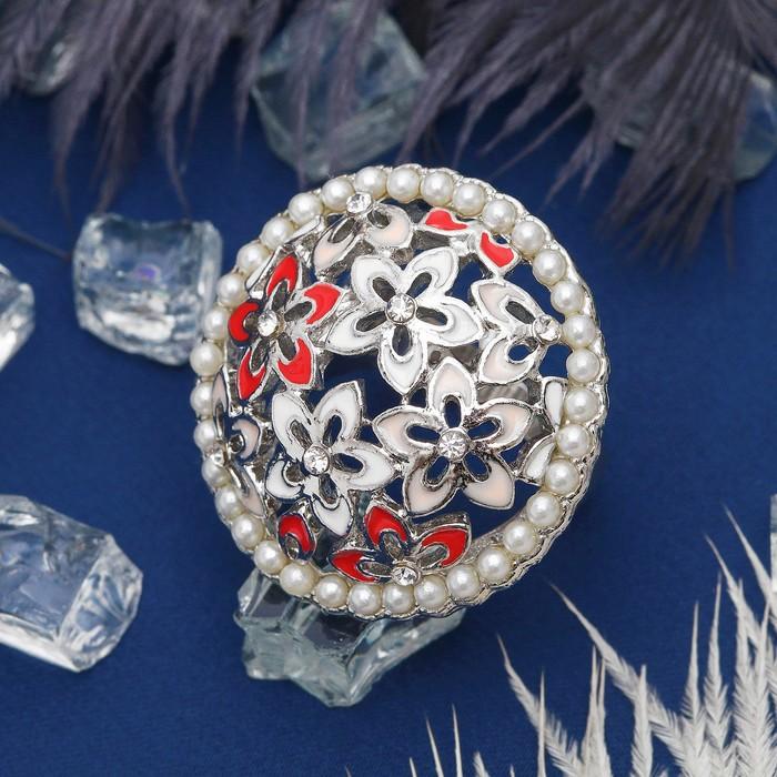 """Кольцо """"Цветочная поляна"""", цветное в серебре, размер 17,18,19 МИКС"""