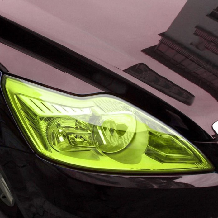 Пленка защитная для фар авто TORSO, светло-желтый, рулон 30 х 900 см