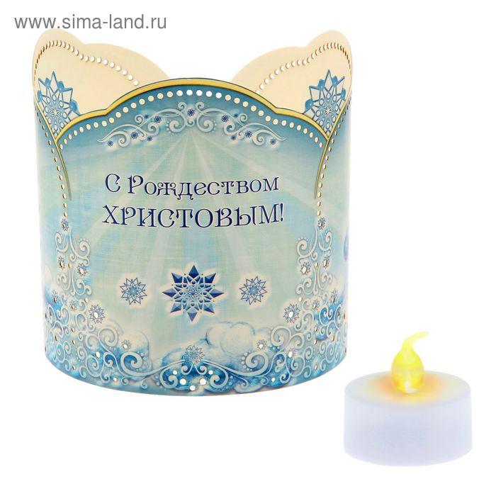 """Подсвечник """"Ангелы на облаке"""" со светодиодной свечой"""