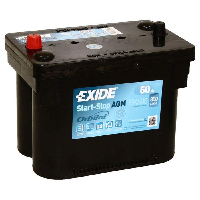 Аккумуляторная батарея Exide 50 Ач Start-Stop AGM EK508