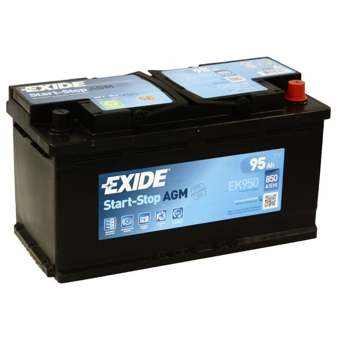 Аккумуляторная батарея Exide 95 Ач, обратная полярность Start-Stop AGM EK950