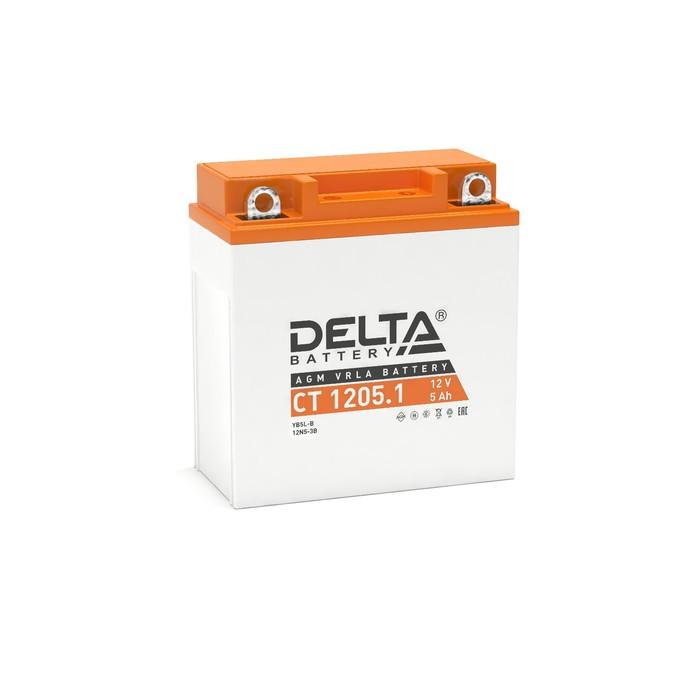 Аккумуляторная батарея Delta СТ1205.1 (12N5-3B, YB5L-B)12V, 5 Ач обратная(- +)