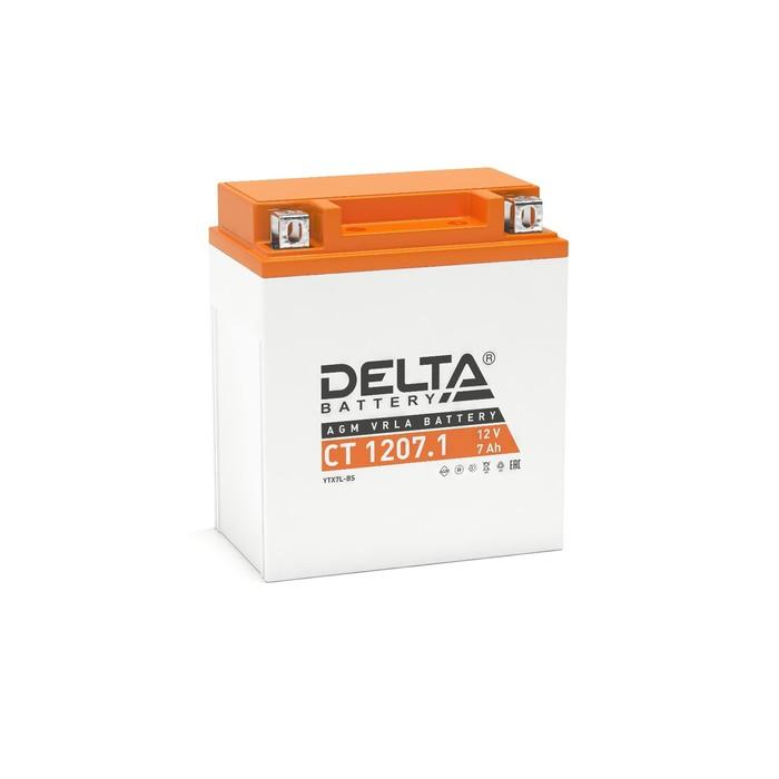 Аккумуляторная батарея Delta СТ1207.1 (YTX7L-BS)12V, 7 Ач обратная(- +)