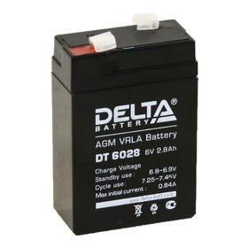 Аккумуляторная батарея Delta 2,8 Ач 6 Вольт DT 6028 Ош