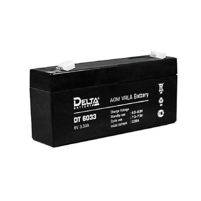 Аккумуляторная батарея Delta 3,3 Ач 6 Вольт DT 6033