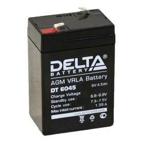 Аккумуляторная батарея Delta 4,5 Ач 6 Вольт DT 6045 Ош
