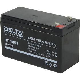 Аккумуляторная батарея Delta 7 Ач 12 Вольт DT 1207 в Донецке