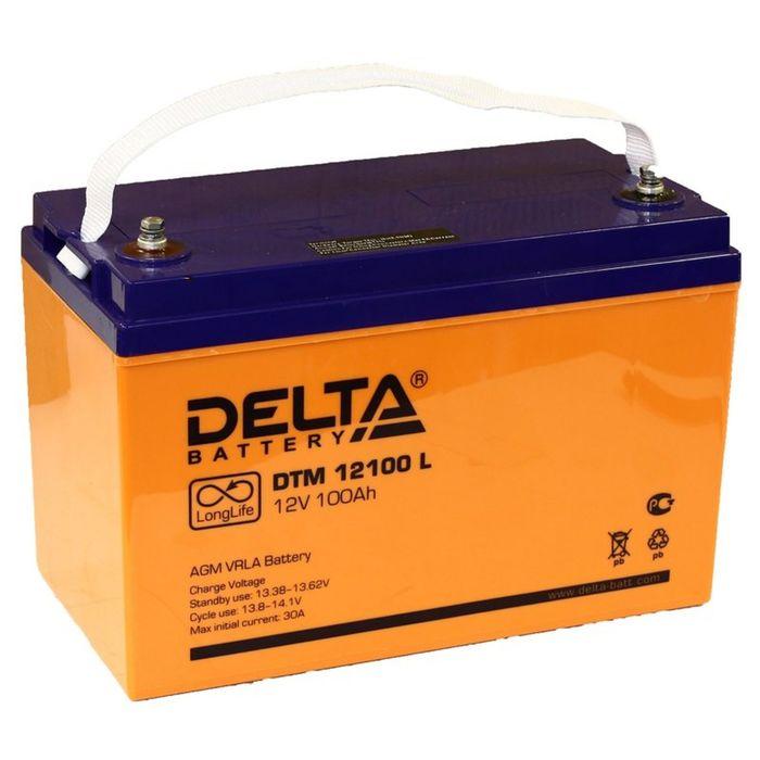 Аккумуляторная батарея Delta 100 Ач 12 Вольт DTM 12100