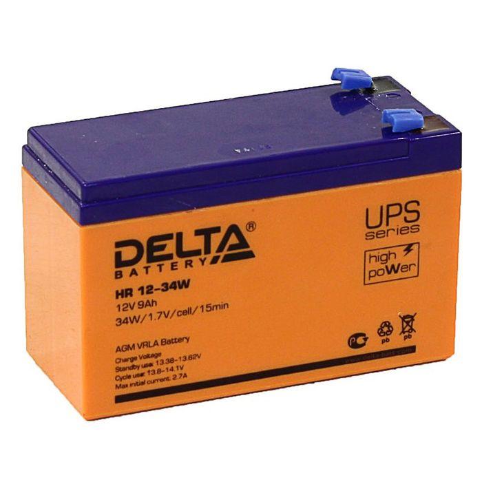Аккумуляторная батарея Delta 9 Ач 12 Вольт HR 12-34W