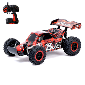 Car RC Buggy with battery, 1:16 scale, colors MIX