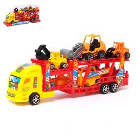 Грузовик инерционный «Автовоз», с 6 машинами, цвета МИКС Ош