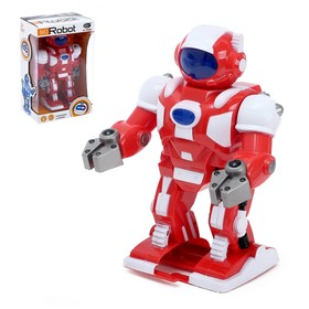 """Робот """"Марсианин"""", ходит, световые и звуковые эффекты, цвета МИКС"""