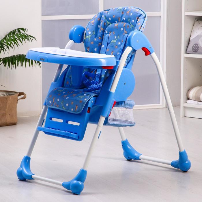Стульчик для кормления BH-435, цвет голубой