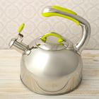"""Чайник """"Нова"""", со свистком, макс. объем 2,5 л, фиксированная ручка, капсулированное трехслойное дно"""