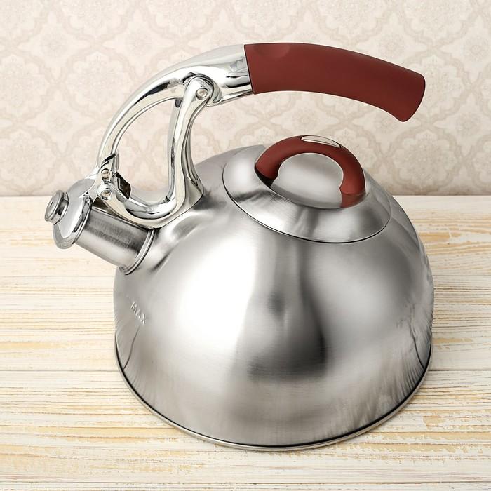 """Чайник """"Практика"""", макс. объем 2,4 л, капсулированное трехслойное дно, со свистком, фиксированная ручка"""