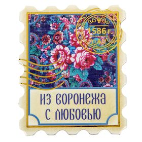 "Magnet with embossed gold ""Voronezh"""
