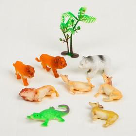 Растущие животные «Сафари», набор 8шт + дерево