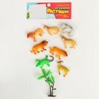 Растущие животные «Сафари», набор 8шт + дерево - фото 106547989