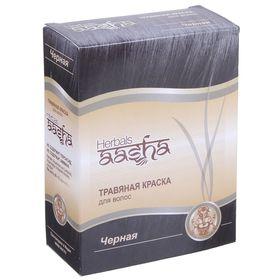 """Травяная краска для волос Aasha Herbals """"Черная"""", на основе индийской хны, 60 г"""