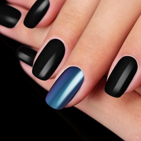 "Stirka ""Mirror Shine"" Polish, with applicator, color purple/blue"