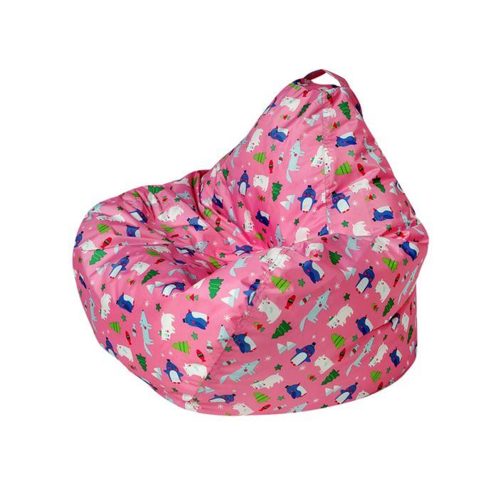 Кресло-мешок Малыш d70/h80 цв Zoopark pink (нейлон розовый) (1)