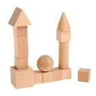 Обучающий материал, набор 14 предметов натуральный цвет, кубик: 2 ? 2 см