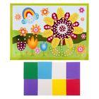 """Мозаика стикерная """"Цветочек на полянке"""", круглые элементы"""