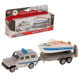 Машина металлическая «УАЗ с лодкой на прицепе»