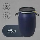 Фляга пищевая, 65 л, синяя, Оpen Top