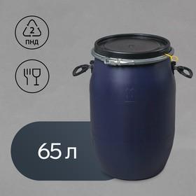 Фляга пищевая, 65 л, горловина 26 см, синяя, Open Top