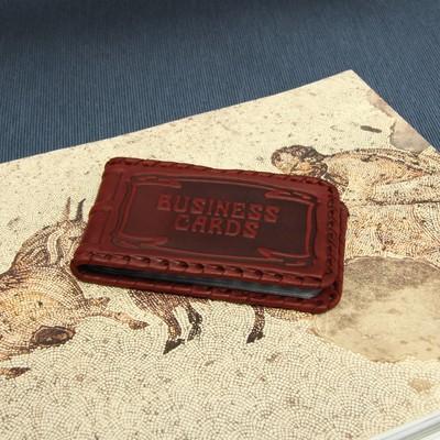 """Визитница """"Бизнес"""", 1 ряд, 18 листов, цвет коричневый"""