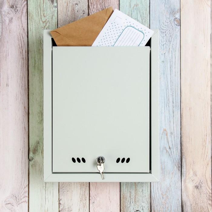 Ящик почтовый «Тюльпан», вертикальный, с замком, серый