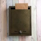 Ящик почтовый «Тюльпан», вертикальный, с замком, бронзовый
