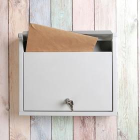 Ящик почтовый с замком, горизонтальный «Альянс», серый